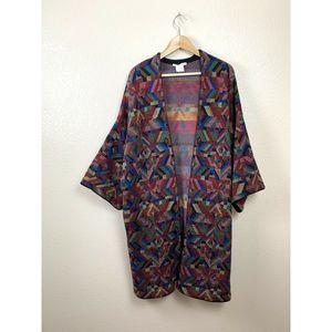 Alice + Olivia Colorful Knit Kimono Sweater